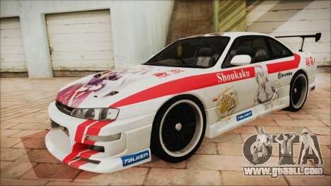 Nissan Silvia S14 Chargespeed Kantai Collection for GTA San Andreas side view