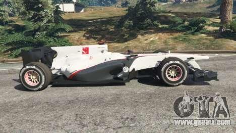 GTA 5 Sauber C29 [Pedro martínez de La Rosa] left side view