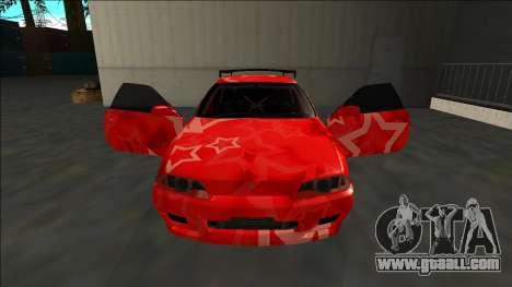 Nissan Skyline R32 Drift Red Star for GTA San Andreas upper view