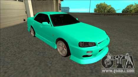 Nissan Skyline ER34 Drift for GTA San Andreas left view