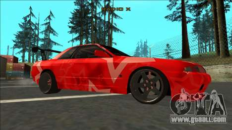 Nissan Skyline R32 Drift Red Star for GTA San Andreas right view