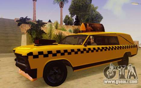 Albany Lurcher Taxi for GTA San Andreas left view