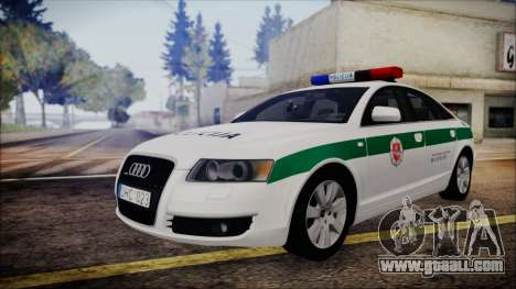 Audi A6 C6 Lithuanian Police for GTA San Andreas