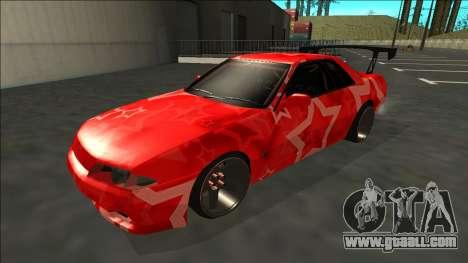 Nissan Skyline R32 Drift Red Star for GTA San Andreas