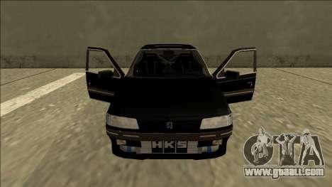 Peugeot 405 Drift for GTA San Andreas inner view