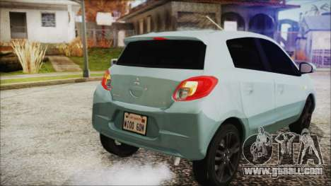 Mitsubishi Mirage GLS for GTA San Andreas back view