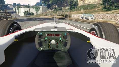 GTA 5 Sauber C29 [Pedro martínez de La Rosa] rear right side view