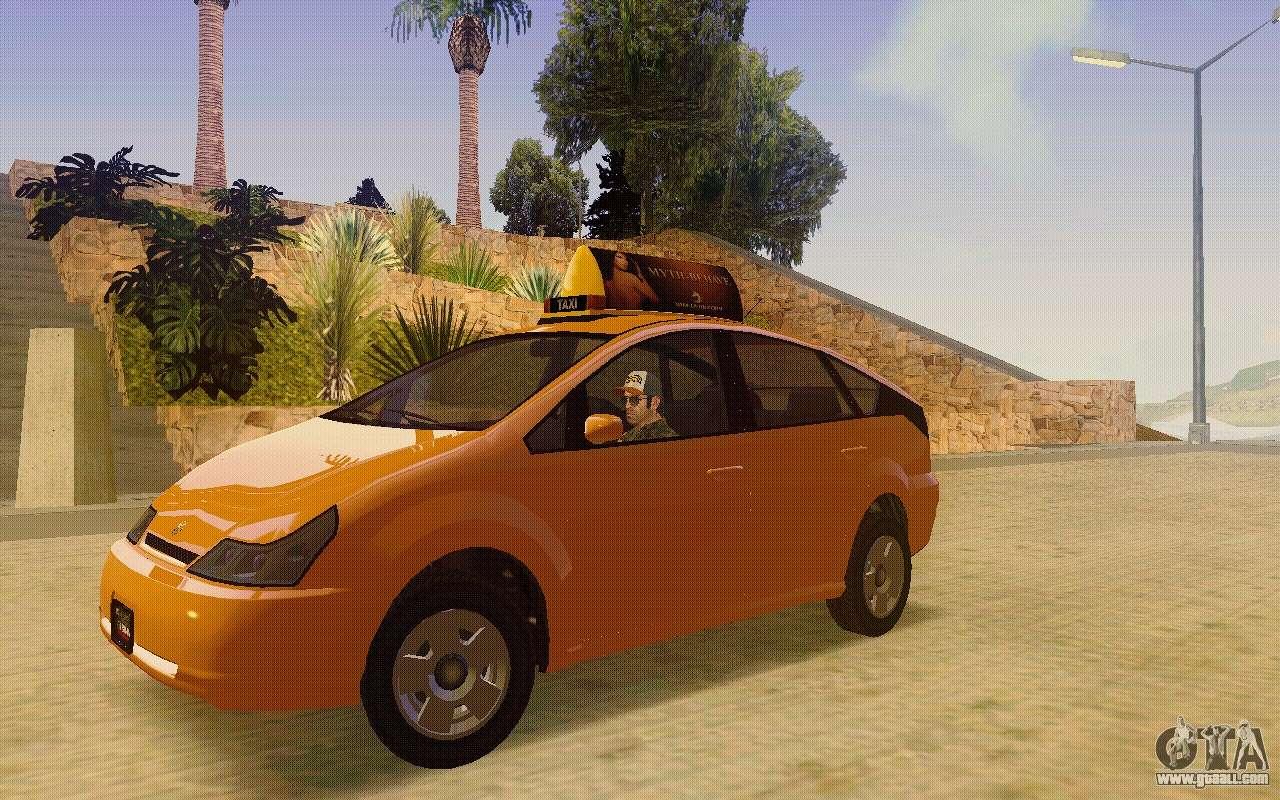 Karin Dilettante Taxi for GTA San Andreas