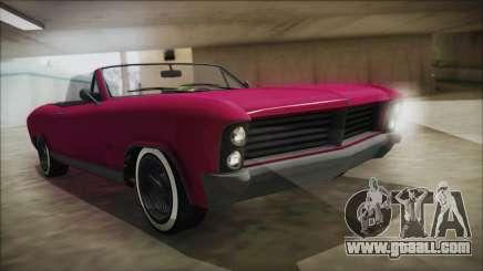 GTA 5 Albany Buccaneer Bobble Version for GTA San Andreas