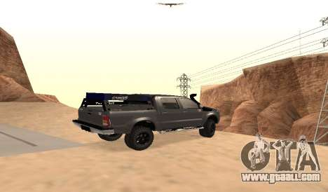 Toyota Hilux 2012 Activa barra led for GTA San Andreas left view