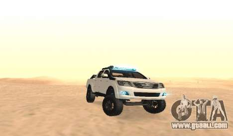 Toyota Hilux 4WD 2015 Rustica for GTA San Andreas back view