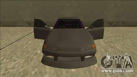 Nissan Skyline R32 Drift Sedan for GTA San Andreas engine