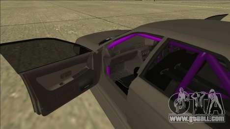 Nissan Skyline R32 Drift Sedan for GTA San Andreas bottom view