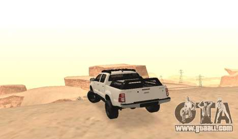 Toyota Hilux 4WD 2015 Rustica for GTA San Andreas back left view