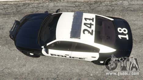GTA 5 Dodge Charger 2015 LSPD back view