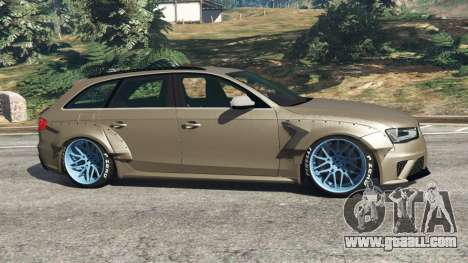 GTA 5 Audi RS4 Avant [LibertyWalk] left side view