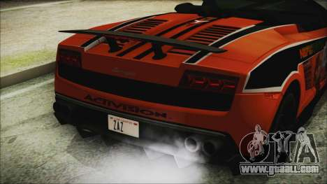 Lamborginhi Gallardo LP-570 Spyder HxH Neferpito for GTA San Andreas back view