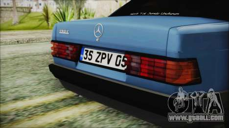 Mercedes-Benz 190E for GTA San Andreas back view