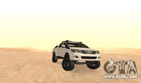 Toyota Hilux 4WD 2015 Rustica for GTA San Andreas inner view