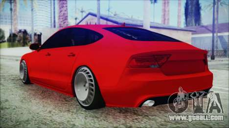 Audi A7 Messer v1 for GTA San Andreas left view