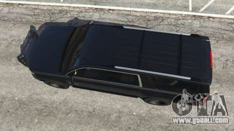 GTA 5 Chevrolet Suburban Police Unmarked 2015 back view