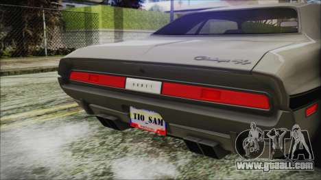Dodge Challenger RT for GTA San Andreas back view