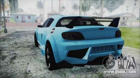 Mazda RX-8 Reventon Itasha Vocaloid Miku for GTA San Andreas left view