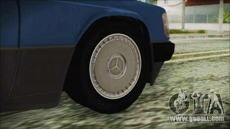 Mercedes-Benz 190E for GTA San Andreas back left view