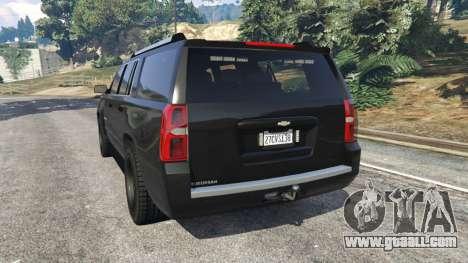 Chevrolet Suburban Police Unmarked 2015 for GTA 5
