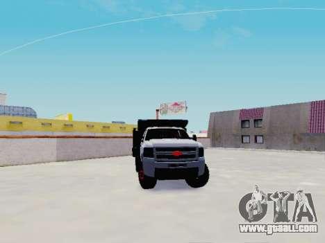 Chevrolet Silverado 3500 HD for GTA San Andreas back view