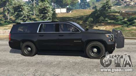 GTA 5 Chevrolet Suburban Police Unmarked 2015 left side view