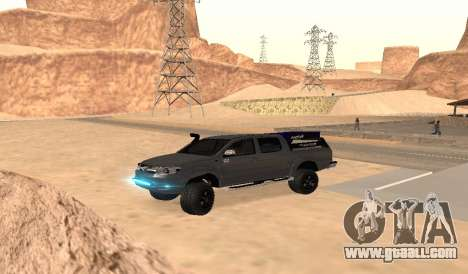 Toyota Hilux 2012 Activa barra led for GTA San Andreas