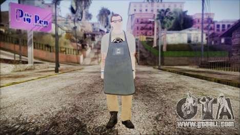 GTA 5 Ammu-Nation Seller 1 for GTA San Andreas second screenshot