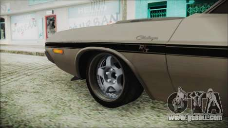 Dodge Challenger RT for GTA San Andreas back left view