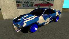 Nissan Skyline R32 Drift синий for GTA San Andreas
