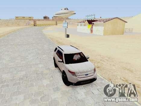 Ford Explorer 2013 Semi-Tuning for GTA San Andreas back view