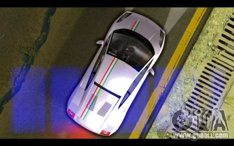 Lamborghini Gallardo for GTA San Andreas bottom view