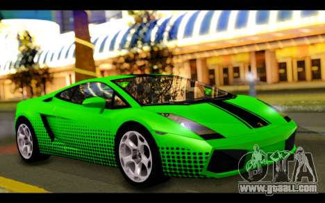 Lamborghini Gallardo for GTA San Andreas interior