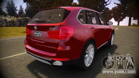 BMW X5 2014 for GTA 4 back left view