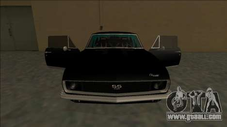 Chevrolet Camaro SS Drift for GTA San Andreas interior