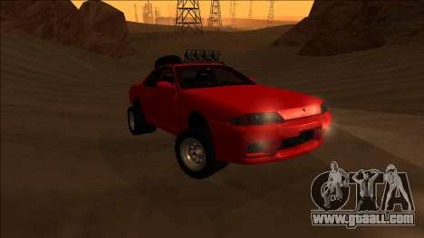 Nissan Skyline R32 Rusty Rebel for GTA San Andreas back view