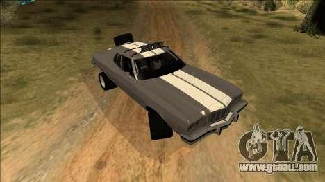 Ford Gran Torino Rusty Rebel for GTA San Andreas bottom view