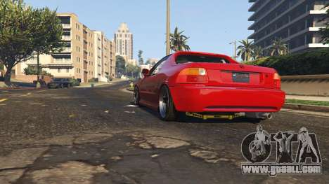 GTA 5 Honda CRX Del Sol back view
