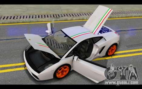 Lamborghini Gallardo for GTA San Andreas wheels