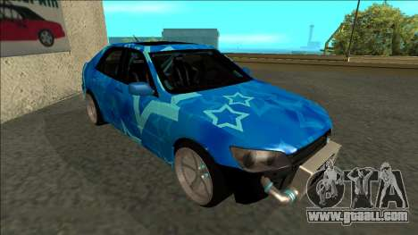 Lexus IS300 Drift Blue Star for GTA San Andreas left view