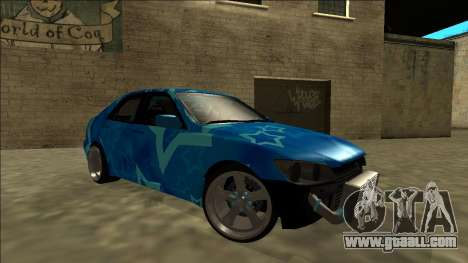 Lexus IS300 Drift Blue Star for GTA San Andreas interior