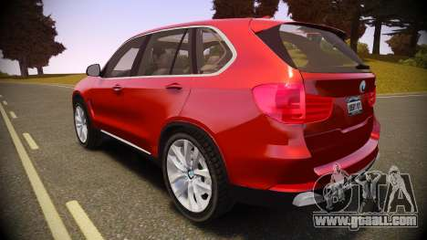 BMW X5 2014 for GTA 4 left view