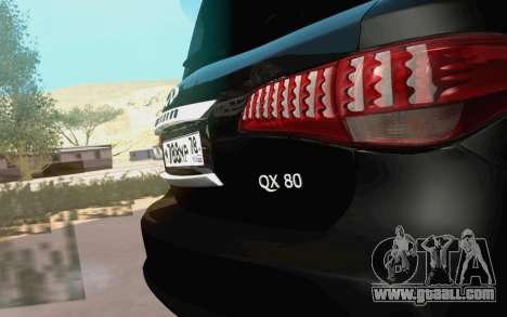 Infiniti QX80 for GTA San Andreas right view