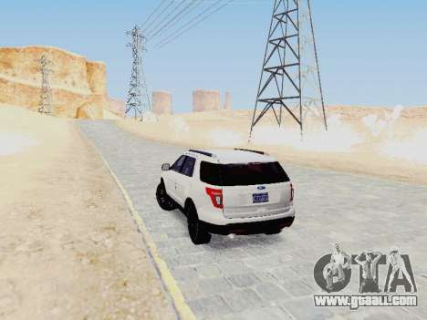 Ford Explorer 2013 Semi-Tuning for GTA San Andreas right view