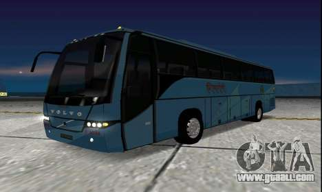 Volvo 9700 JR Indian MSRTC Shivneri for GTA San Andreas back left view